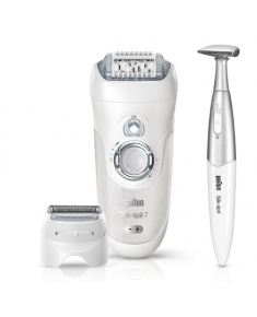 Braun Silk-Epil 7 Warranty 24 month(s), Number of speeds 2, Number of intensity levels 2, Operating time 40 min, Silver, White