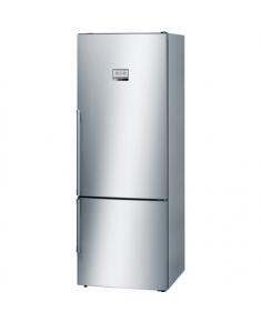 Bosch Refrigerator KGF56PI40 Free standing, Combi, Height 193 cm, A+++, No Frost system, Fridge net capacity 375 L, Freezer net capacity 105 L, Display, 42 dB, Inox