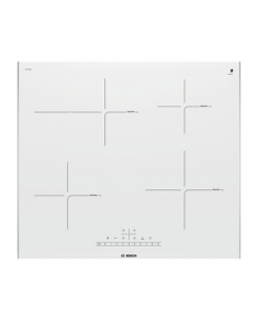Bosch Hob PIF672FB1E Induction, Number of burners/cooking zones 4, White, Display, Timer