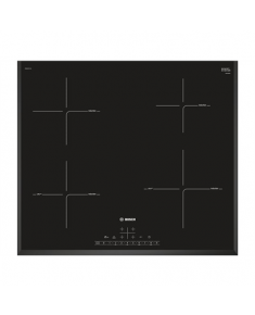 Bosch Hob PIE651FC1E Induction, Number of burners/cooking zones 4, Black,
