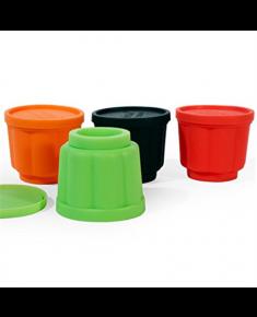 Yoko Design 1139-6701S  Jelly forms, Black/Orange/Red/Green, Capacity 0.11 L, Diameter 6,5 cm