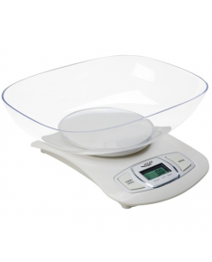 Adler AD 3137 Kitchen scales, Capacity 5 kg , Graduation 1g, Big LCD Display, Auto-zero/Auto-off, Large bowl, White Adler Adler AD 3137 Maximum weight (capacity) 5 kg, Graduation 1 g, Display type LCD, White