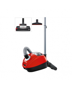 Bosch Vacuum cleaner BGL4ZOOO Warranty 24 month(s), Bagged, Red, 850 W, 4 L, C, A, C, A, 77 dB,