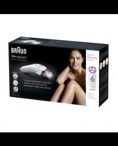 Braun Silk-expert IPL BD 5009 IPL Hair Removal System, Bulb lifetime (flashes) 120000, Gold, White