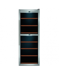 Caso Wine cooler WineComfort 126 Free standing, Bottles capacity 126, Cooling type COMPRESSOR TECHNOLOGY, Stainless steel