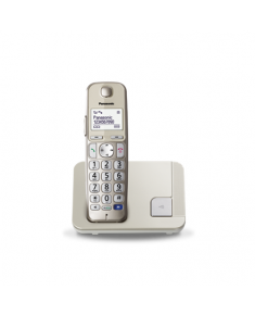 Panasonic Cordless KX-TGE210FXN Conference call, Built-in display, Champagne, Caller ID, Phonebook capacity 150 entries, Speakerphone