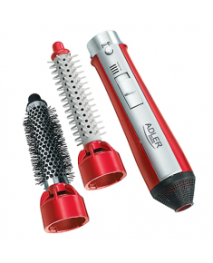 Hair styler Adler Warranty 24 month(s), Number of temperature settings 3, 550 W, red/silver