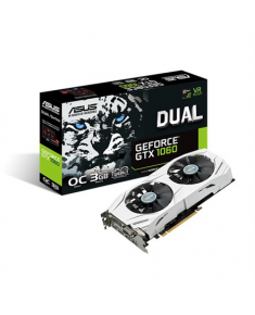 Asus DUAL-GTX1060-O3G NVIDIA, 3 GB, GeForce GTX 1060, GDDR5, Memory clock speed 8008 MHz, PCI Express 3.0, HDMI ports quantity 2, DVI-D ports quantity 1, Cooling type Active, Processor frequency 1594 MHz