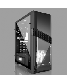 AZZA Titan 240 X, Tempered Glass Side window, USB 3.0 x2, USB 2.0 x2, Mic x1,Spk x1, Black, ATX, Power supply included No
