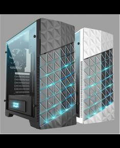 AZZA Onyx, Tempered Glas Side window, USB 3.0 x2, USB 2.0 x2, Mic x1,Spk x1, Black, ATX, Power supply included No