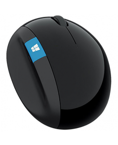 Microsoft L6V-00005 Sculpt Ergonomic Mouse, USB, Wireless, Black, Yes