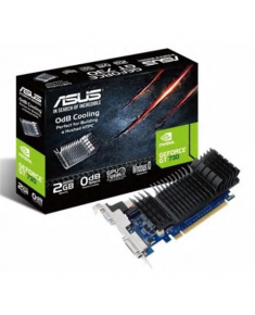Asus GF GT730-SL-2GD5-BRK NVIDIA, 2 GB, GeForce GT 730, GDDR5, Memory clock speed 5010 MHz, PCI Express 2.0, HDMI ports quantity 1, DVI-D ports quantity 1, Cooling type Passive, Processor frequency 902 MHz