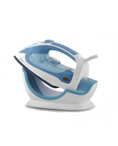 Camry Steam iron CR 5026 White/ blue, 2200 W, Anti-drip function, Vertical steam function