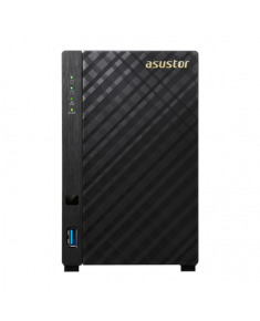 Asus Asustor Tower NAS AS3202T up to 2 HDD/SSD, Intel Celeron Quad-Core, Processor frequency 1.6 GHz, 2 GB, DDR3L, Black