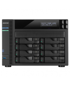 Asus Asustor Tower NAS AS6208T up to 8 HDD/SSD, Intel Celeron Quad-Core, Processor frequency 1.6 GHz, 4 GB, DDR3L, Black
