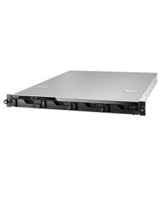 Asus Asustor Rack NAS AS6204RD up to 4 HDD/SSD, Intel Celeron Quad-Core, Processor frequency 1.6 GHz, 4 GB, DDR3L, Black