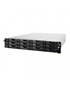 Asus Asustor Rack NAS AS6212RD up to 12 HDD/SSD, Intel Celeron Quad-Core, Processor frequency 1.6 GHz, 4 GB, DDR3L, Black