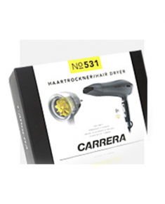 Carrera 531 Ionic Hairdryer  Warranty 36 month(s), Ionic function, Motor type Power boost: durable DC motor with titanium and ceramic coating and AC turbine, 2400 W, Silver/Black