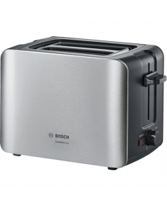 Bosch Toaster TAT6A913 Stainless steel, Stainless steel, 1090 W, Number of slots 2, Number of power levels 6, Bun warmer included