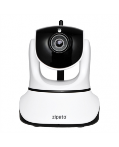 ZIPATO Indoor PTZ IP Camera, LAN & Wi-Fi 150Mbps, FullHD 1280x720, Day/Night Surveillance, Dual Stream, Motion Detection alarm, SD card socket