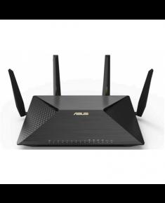 Asus Dual-WAN Router BRT-AC828 802.11ac, 800+1734 Mbit/s, 10/100/1000 Mbit/s, Ethernet LAN (RJ-45) ports 8, 3G/4G via optional USB adapter, Antenna type 4xExternal 3 dBi, USB ports quantity 2xUSB 3.0, up to 200 concurrent users, IPSec VPN, VLAN, Captive Portal, Facebook Wi-Fi, intrusion prevention, teaming ports, M.2 SATA