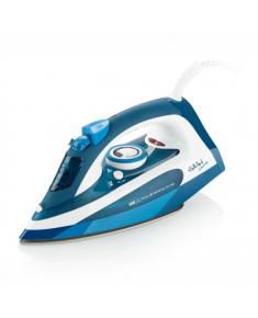 Gallet GALFAR370 Blue/ white, 2400 W, Steam iron, Continuous steam 40 g/min, Steam boost performance 130 g/min, Anti-drip function, Anti-scale system, Vertical steam function, Water tank capacity 250 ml