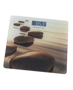 Gallet Personal scale Pierres beiges GALPEP951 Maximum weight (capacity) 150 kg, Accuracy 100 g, Photo with motive