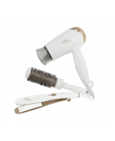 Gallet Hair dryer LeCosque, Iron with ceramic plates, Brush GALSEC816IW Warranty 24 month(s), Foldable handle, Styling comb, 1400 W, White