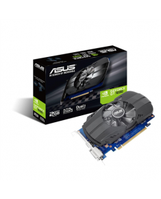 Asus PH-GT1030-O2G NVIDIA, 2 GB, GeForce GT 1030, GDDR5, PCI Express 3.0, Processor frequency 1531 MHz, DVI-D ports quantity 1, HDMI ports quantity 1, Memory clock speed 6008 MHz