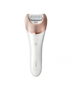 Philips Satinelle Epilator BRE650/00 Warranty 24 month(s), Number of speeds 2, Operating time 40 min, 5.4 W, White/Pink