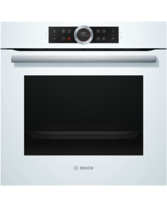Bosch Oven HBG672BW1S Multifunction, 71 L, White, Pyrolysis, Rotary and electronic, Height 60 cm, Width 60 cm