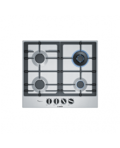Bosch Hob PCH6A5B90 Gas, Number of burners/cooking zones 4, Stainless steel,