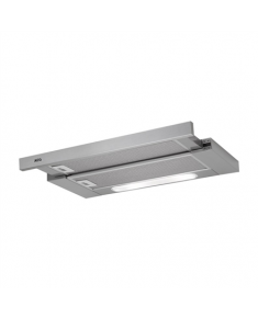 AEG Cooker Hood DPB5650M Electronic push buttons, Micro switch, Width 60 cm, 537 m³/h, Inox, Energy efficiency class A, 63 dB, Built in