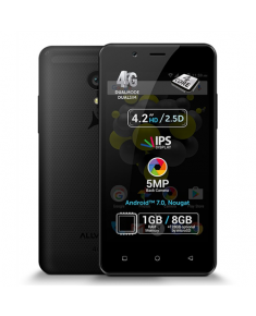 "Allview P4 Pro Black, 4.2 "", HD IPS, 768 x 1280 pixels, Internal RAM 1 GB, 8 GB, microSD, Dual SIM, 3G, 4G, Main camera 5 MP, Secondary camera VGA MP, Android, 7.0, 1600 mAh"