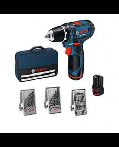Bosch GSR 12 V-15 Li Cordless drill/2x2,0Ah+ 39 accessories tool kit + Bag Bosch