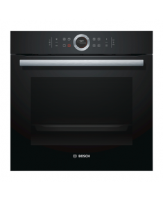 Bosch Oven HBG672BB1S Built in, 71 L, Black, Pyrolysis, A+, Touch plus control ring, Height 60 cm, Width 60 cm, Integrated timer