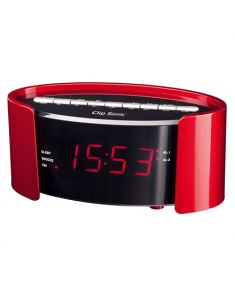 ClipSonic PLL FM alarm clock AR306R Red, Alarm function,