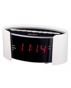 ClipSonic PLL FM alarm clock  AR306B White, Alarm function,