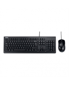 Asus U2000 Keyboard and Mouse Set, Wired, Keyboard layout English, USB, Black, Mouse included