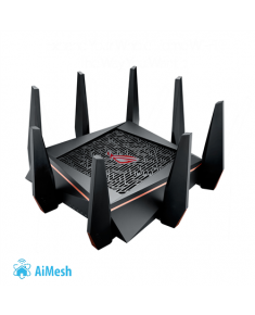 Asus Gaming Router ROG Rapture GT-AC5300 802.11ac, 1000+2167+2167 Mbit/s, 10/100/1000 Mbit/s, Ethernet LAN (RJ-45) ports 8, Mesh Support Yes, MU-MiMO Yes, 3G/4G via optional USB adapter, Antenna type 8xExternal, 2xUSB 3.0, Gamers Private Network, Game ports, Game boost, Game IPS, Game Radar, AiMesh, Dual WAN 3G/4G backup, AiCloud, AiDisk