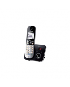 Panasonic Cordless KX-TG6821FXB Built-in display, Speakerphone, Conference call, Black/Silver, Caller ID, Wireless connection