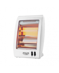 Adler Heater AD 7709 Halogen Heater, 800 W, Number of power levels 2, White