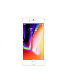 "Apple iPhone 8 Gold, 4.7 "", LED-backlit IPS LCD, 750 x 1334 pixels, Apple, A11 Bionic, Internal RAM 2 GB, 64 GB, Single SIM, Nano-SIM, 3G, 4G, Main camera 12 MP, Secondary camera 7 MP, iOS, 11, 1821 mAh"