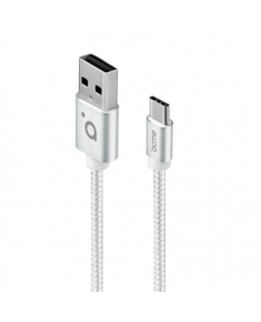 Acme Cable CB2041S 1 m, Silver, USB A, Type-C
