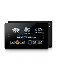 "Allview H1002 10.1 "", Black, IPS LCD, 1280 x 800 pixels, Cortex-A53, 3 GB, 16 GB, Wi-Fi, 4G, Front camera, 2 MP, Rear camera, 5 MP, Bluetooth, 4.0, Android, 7.0"