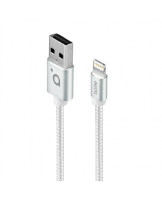 Acme Cable CB2021S 1 m, Silver, Lightning MFI, USB A