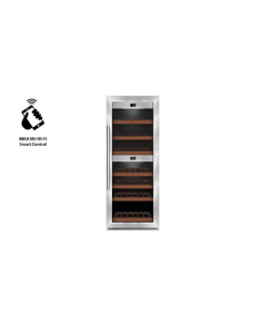 Caso Wine cooler  WineComfort 380 Smart  Free standing, Showcase, Bottles capacity 38, Silver