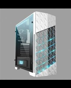 AZZA Onyx, Tempered Glas Side window, USB 3.0 x2, USB 2.0 x2, Mic x1,Spk x1, White, ATX, Power supply included No