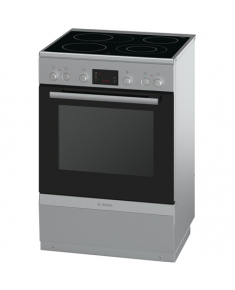 Bosch Cooker HCA744251U Hob type Vitroceramic, Oven type Electric, Stainless steel, Width 60 cm, Electronic ignition, Grilling, 66 L, Depth 60 cm