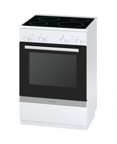 Bosch Cooker HCA722221U Hob type Vitroceramic, Oven type Electric, White, Width 60 cm, Electronic ignition, Grilling, 66 L, Depth 60 cm